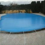 Toldo para tapar piscinas